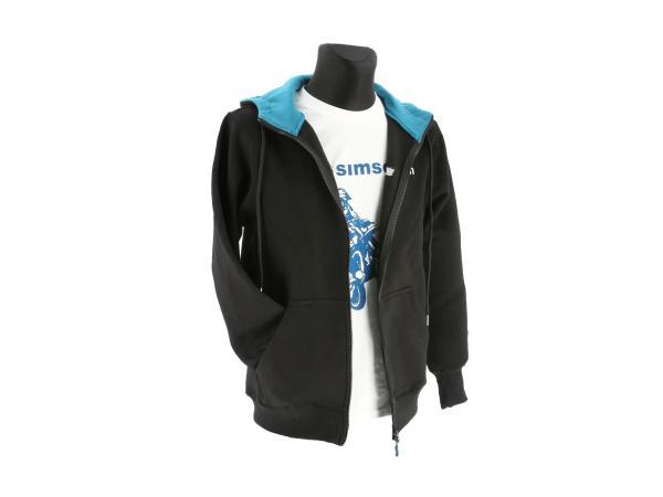 """K10000131 Zipp-Jacke """"SIMSON"""" - Schwarz/Blau - Bild 1"""