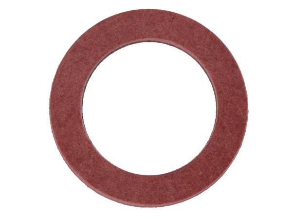 10056923 Dichtring Ø14x21 (Fiber) für Schwenknippel bei geschraubten Schwimmerventil  Vergaser pass.f. AWO - Bild 1