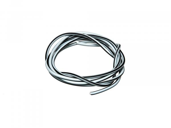 Cable - grey/black 0,50mm² Automotive cable - 1m