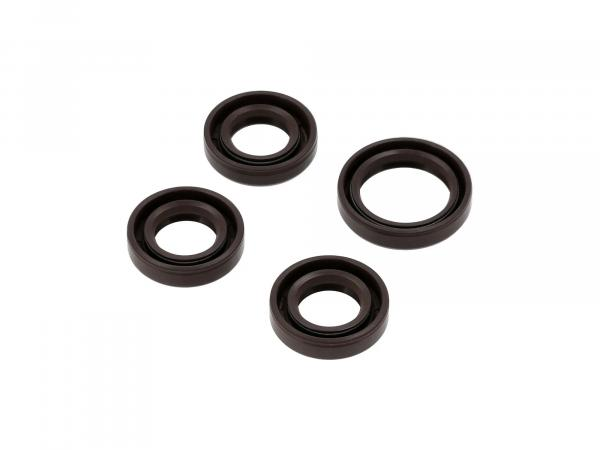 Set: Oil seals motor, brown, double lip - for RT125/3