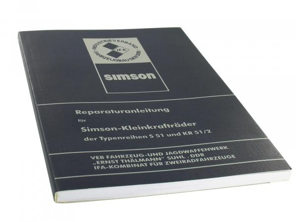 Book - Repair instructions Simson S51, Schwalbe KR51/2 (without wiring diagrams)