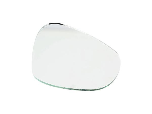 Spiegelglas, links, Niere-eckig, 104 x 87mm