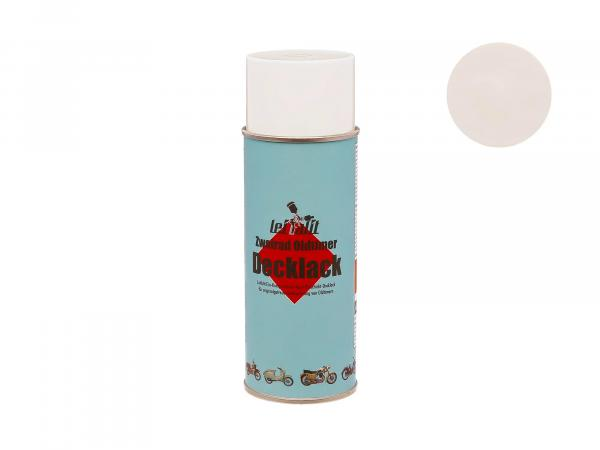 Spray can Leifalit top coat pastel white - 400ml