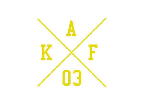 """10069659 Aufkleber - """"Kreuz AKF 03"""" Folienplot Gelb, mit Übertragungsfolie - Bild 1"""