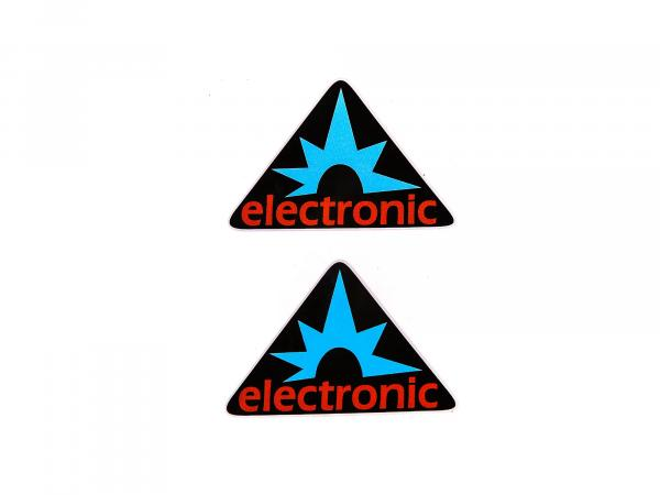 "Sticker - ""electronic"" triangle, 2 pieces"