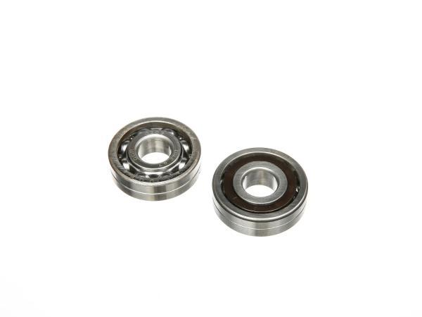 Set: 2x angular contact ball bearing QB17, rear wheel drive - for Simson AWO 425S, 425T