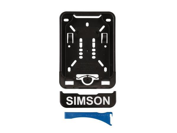 Wechsel-Kennzeichenhalterung mit Aufdruck SIMSON