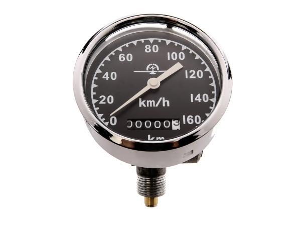 Tacho Ø80, 0-160km/h, neutrales Tachoblatt - für AWO-S, AWO-T