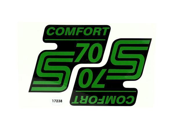 "Set: 2x Klebefolie - ""S70 Comfort"" Grün"