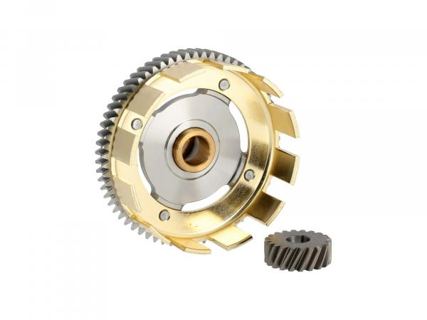 Set: Tuning clutch basket + drive pinion, 65/20 tooth - for Simson S51, S53, SR50, KR51/2 Schwalbe