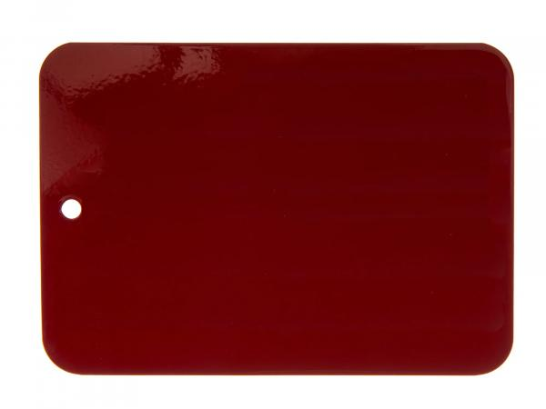 Colour pattern varnished on sheet metal, Leifalit, Bordeaux red