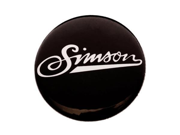 """Button, Anstecker """"Simson"""" weiche Schrift, Ø25 mm"""