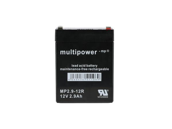 10069891 Batterie 12V 2,9Ah Multipower (Gelbatterie) - Bild 1