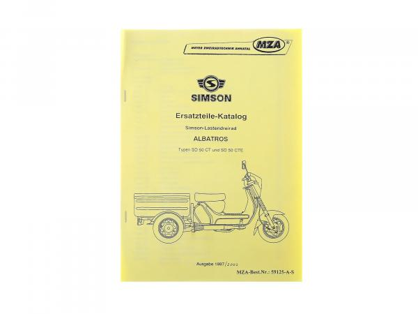 Spare parts catalogue CT/CTE AUSG. 1993/2003 Simson Albatros SD50 load tricycle