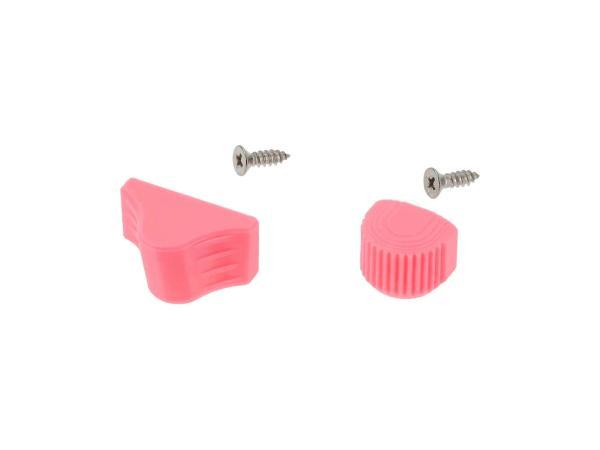 10070505 Set: Abblend- & Blinkerschalterknopf 3D, Pink - für S51, S70, SR50, SR80 - MZ ETZ - Bild 1