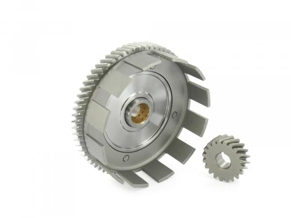 Set: Clutch basket + drive pinion, 65/20 tooth - Simson S51, S53, SR50, KR51/2 Schwalbe