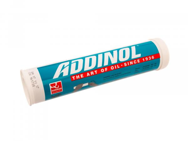ADDINOL LM2 grease cartridge (cartridge), multi-range grease, up to 140 degrees, mineral oil base - 400g cartridge
