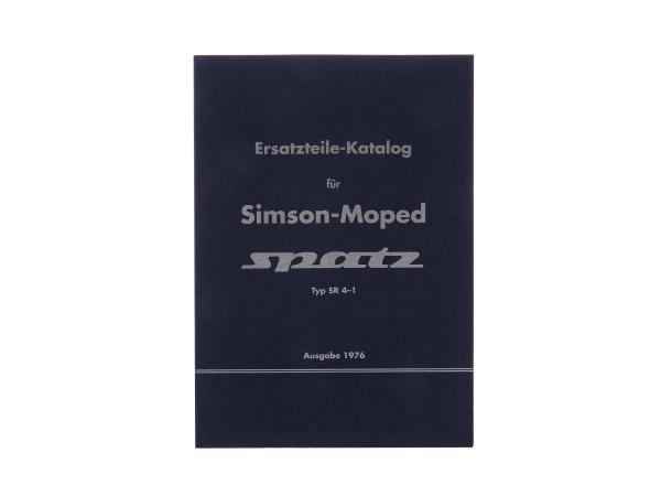 Ersatzteilekatalog, Ersatzteilliste für Simson Moped Spatz SR4-1 - Ausgabe 1976