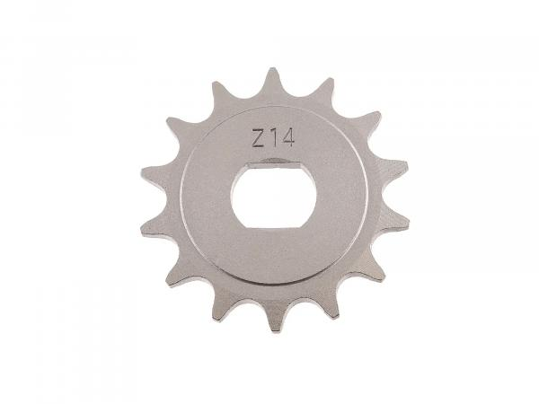 sprocket, small chain wheel, 14 teeth - for Simson S51, S70, S53, S83, KR51/2 Schwalbe, SR50, SR80