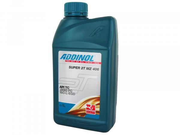 ADDINOL MZ406 - Super 2-stroke engine oil (mixed oil) low smoke - 1Liter