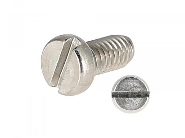 Slotted cheese head screw, stainless steel M4x8 - DIN84