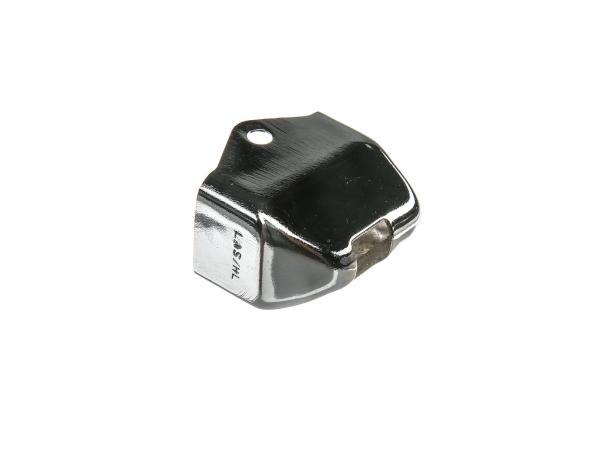 10058629 Chromkappe für Blinkerschalter mit Ausschnitt für Kabel - für Simson S50 - MZ TS, ES, ETS - Bild 1