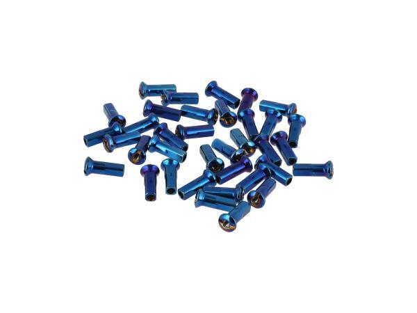 10070573 Set: Speichennippel M3,5 in Blau - Simson S50, S51, S70, KR51 Schwalbe, SR4 Vogelserie - Bild 1