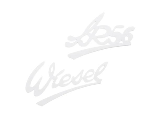 """Set: Schriftzug (Plaketten aus Kunststoff) """"Wiesel"""" und """"SR56"""""""