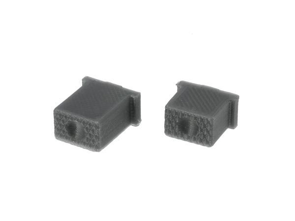 10069585 Set: Knopf für Hupe & Lichthupe 3D, Silbergrau, Doppeltaster - für S51, S70, SR50, SR80 - MZ ETZ - Bild 1