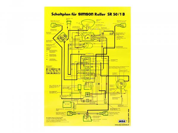 Circuit diagram color poster (40x57cm) Simson SR50/1 B