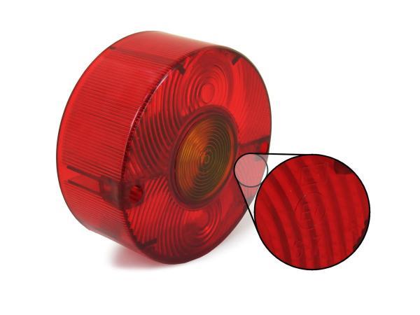 Ersatzglas für Dreikammerleuchte rund ohne Kennzeichnenbeleuchtung (für Fahrzeuge aus der DDR)