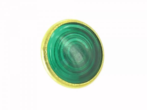 control glass, green, brass socket, Ø16mm - for Simson KR51/1 Schwalbe, SR4-2 Star, SR4-3 Sperber, SR4-4 Habicht, AWO, MZ RT, BK350, EMWR35