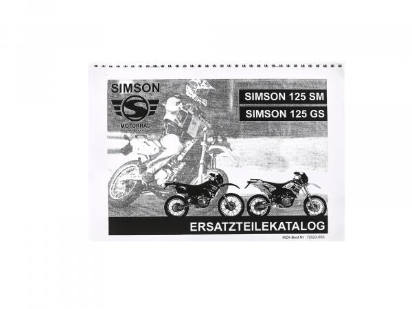 Spare parts catalogue Simson 125 SM/GS