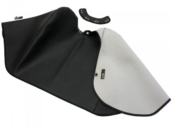 Knee protection blanket old version + retaining strap black, lined - for Simson KR51/1 Schwalbe, KR51/2 Schwalbe