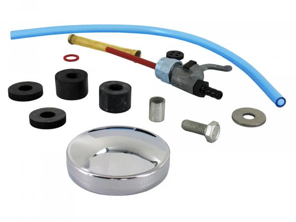 Set: Zubehör und Anbauteile für Kraftstofftank - Simson S50, S51, S70