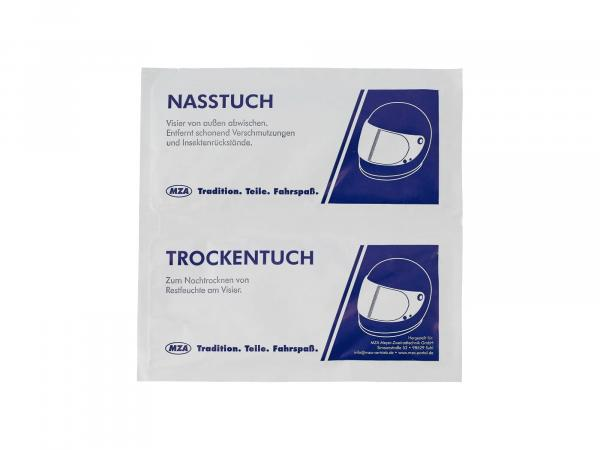 10069674 Helm- und Visierreiniger, Trocken- / Nasstuch - Bild 1