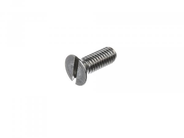 Slotted countersunk screw, in stainless steel M6x16 - DIN963