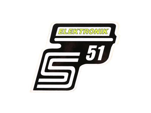 "Adhesive lettering - ""S51 Elektronik"" Neon yellow"