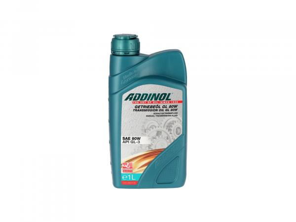 ADDINOL GL80W, gear oil mineral (API GL3) for Simson & MZ - 1 Liter