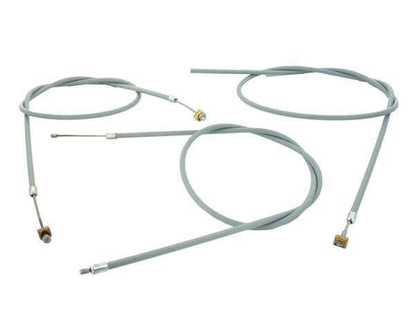 10038884 Set: Bowdenzügesatz RT125/1 grau Halbnabe komplett (3-teilig) - Bild 1