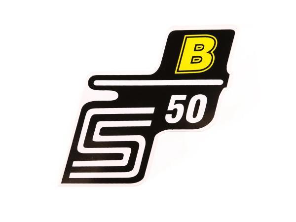 """Klebeschriftzug - """"S50 B"""" Gelb"""