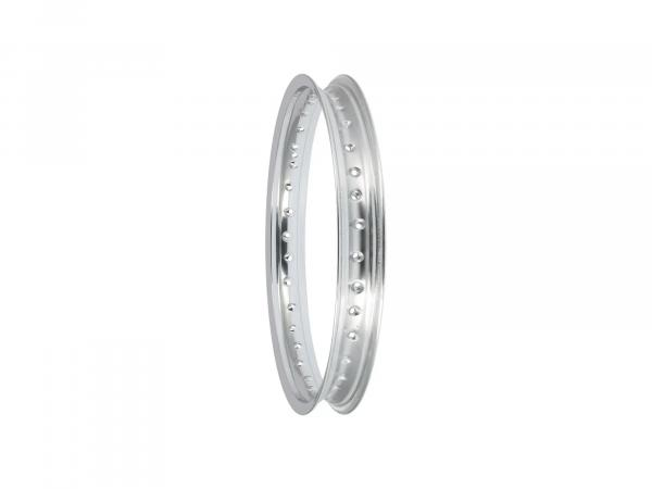 10062924 Felge - 1,85 x 18 Aluminium poliert (Hinterrad) passend für MZ ES125, ES150, TS125, TS150 - Bild 1