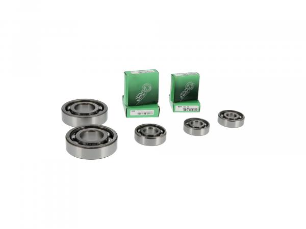 Set: Ball bearing motor + gearbox, 7 parts - MZ TS250/1
