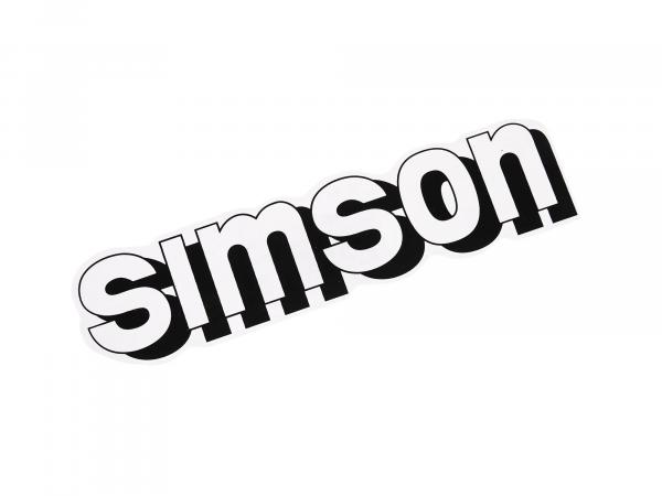 "Adhesive label ""SIMSON"" for tank in white"