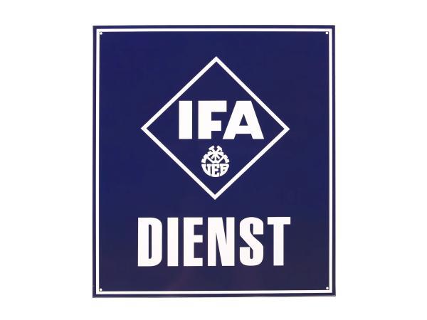 """Blechschild """"IFA DIENST"""""""