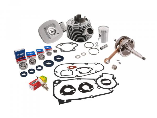 Set: cylinder cpl. 50cm³ + gasket set + crankshaft - for Simson KR51/1 Schwalbe, SR4-2 Star, SR4-4 Habicht