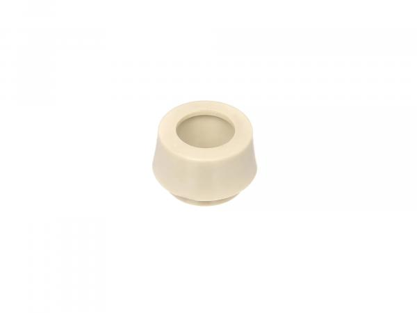 Spacer right, ivory, guide ring for gas handle, with stop - for Simson KR51 Schwalbe, SR4 - MZ TS, ES