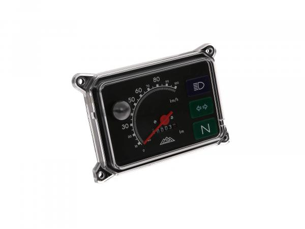 Speedometer, complete with illumination, 12V, 100 Km/h for SR50, SR80