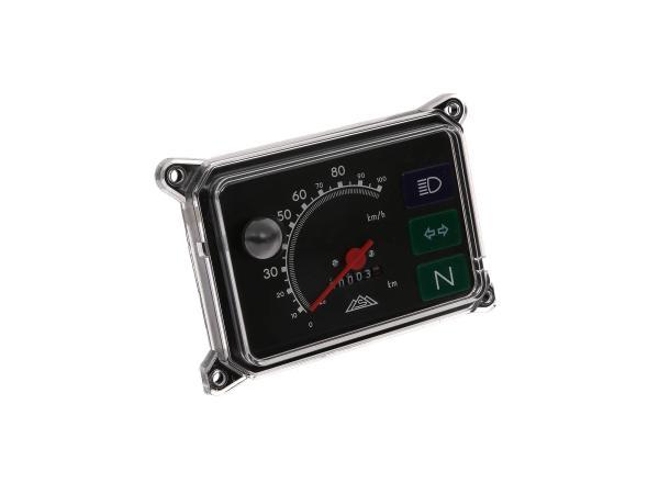 10001715 Tachometer, komplett mit Beleuchtung, 12V, 100 Km/h für SR50, SR80 - Bild 1