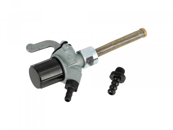 Fuel tap EHR with water bag, hose connection 8 + 6mm - MZ ETZ, TS